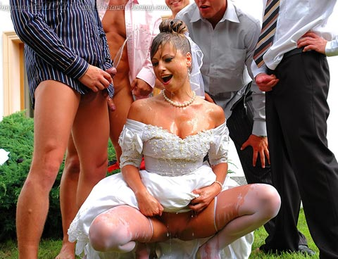 Bride Gets Pissed On